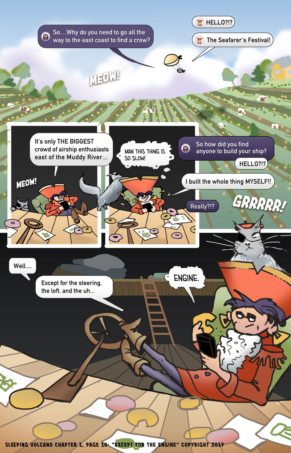Sleeping Volcano (a web comic): In this episode, the Captain reveals why she is travelling East.